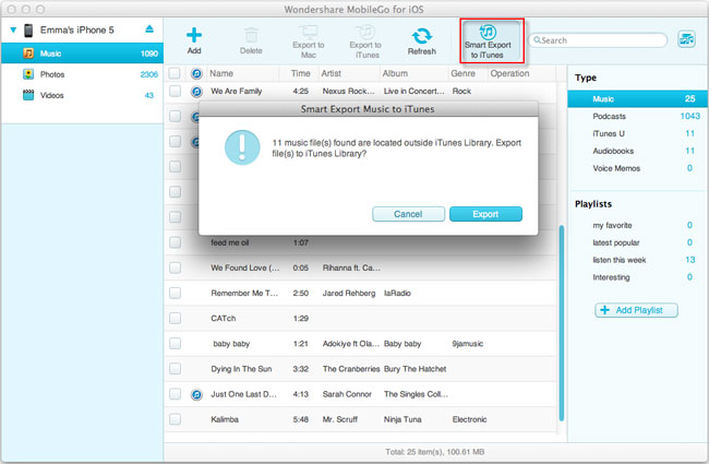 Manage your iPad/iPod/iPhone on Mac with MobileGo for iOS (Mac)