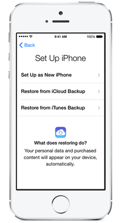 setup as new iphone or restore transfer data from iphone 5s 5 4s 4 to iphone 6 with 19460